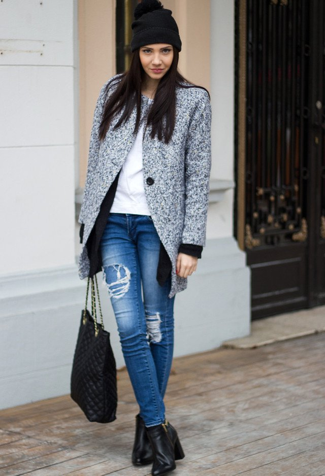 Casual-chic Tweed Coat Outfit