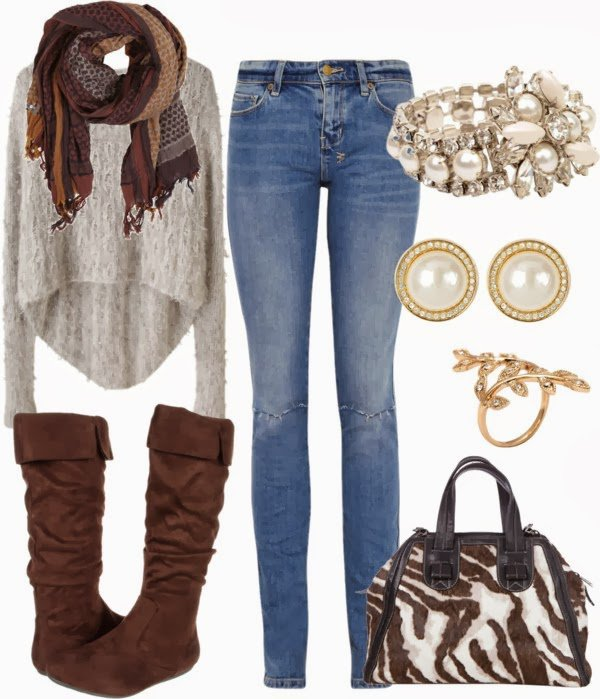 Chic Winter Outfit Idea for Young Women