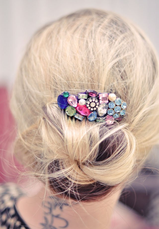 DIY Colorful Crystal Hair Accessory