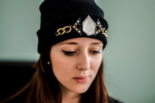 DIY Crystal Embellished Hat