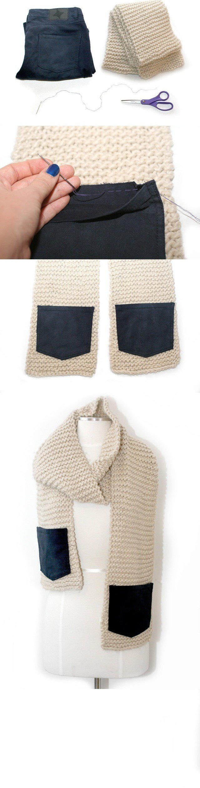DIY Knitted Scarf Tutorial