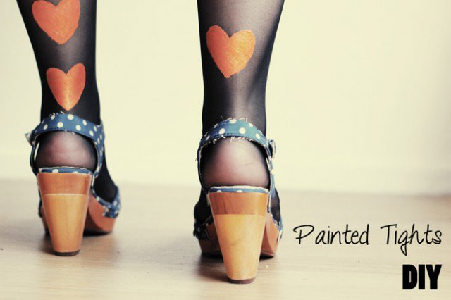DIY Painted Tights