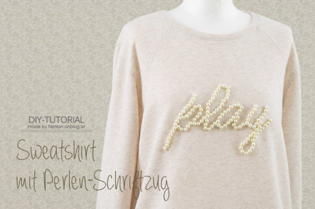 DIY Pearls Embellished Sweater Tutorial