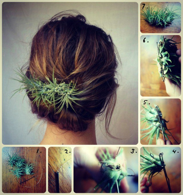 DIY Plant Hair Accessory Tutorial