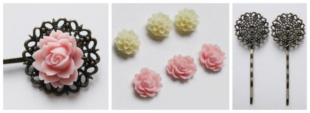 DIY Pretty Hair Pins Tutorial