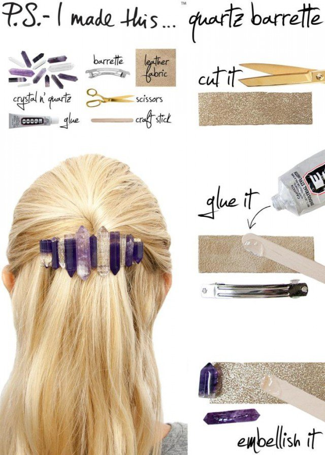 DIY Quarts and Crystal Hair Pin Tutorial