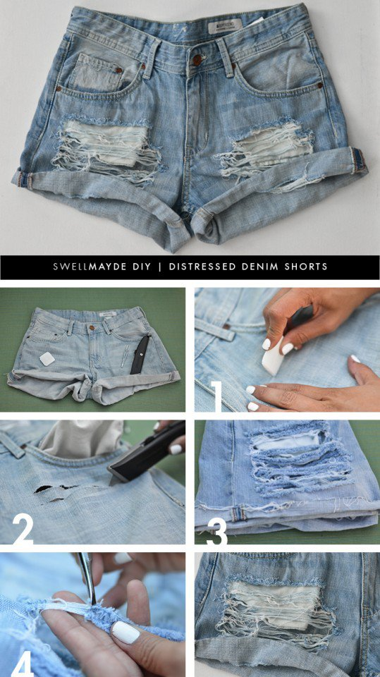 DIY_Distressed_Denim_Shorts