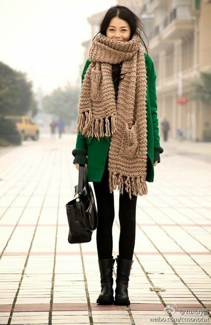 Emerald Green Winter Coat Outfit Idea for 2015