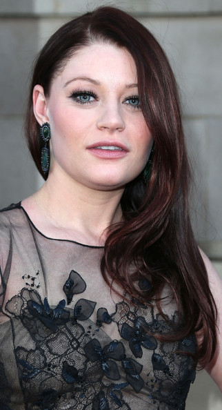Emilie De Ravin Side Sweep Brunette Hair