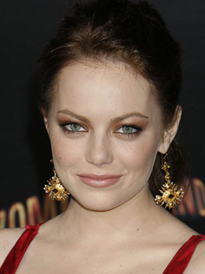 Emma Stone Bronze Smoky Eye Makeup