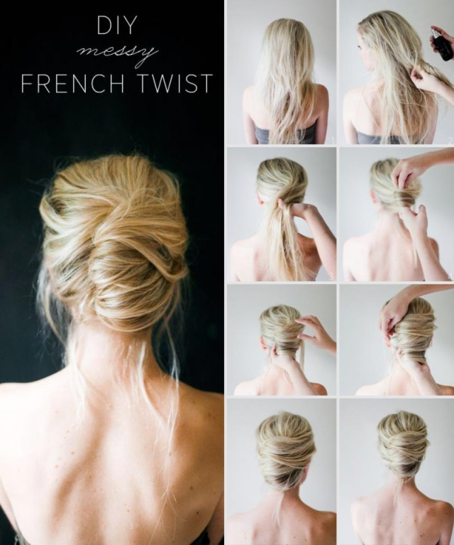 French Twisted Hairstyle Tutorial