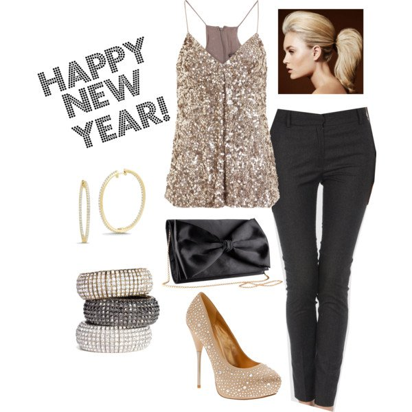 Glitter Outfit Idea for New Year Party