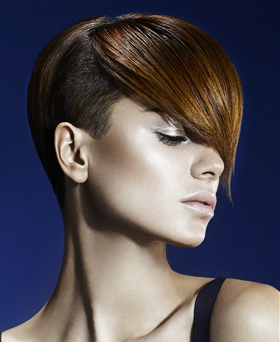 Golden Brown Hairstyle for Short Hair