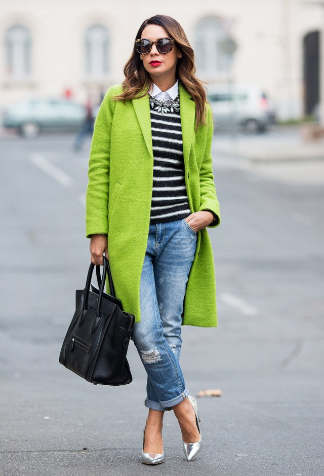 Green Winter Coat Outfit Idea for 2015