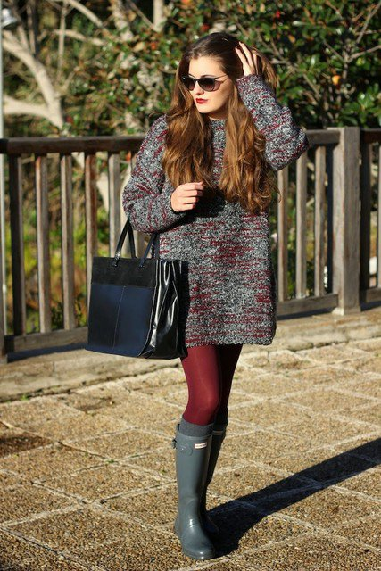 Knitted Winter Dress Outfit Idea for 2015