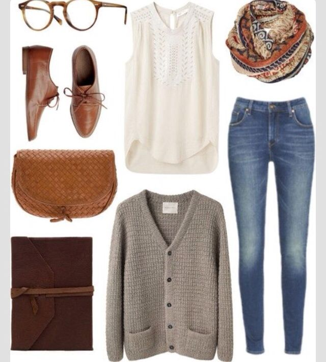 Knitwear and Jeans Outfit Idea for Early Spring