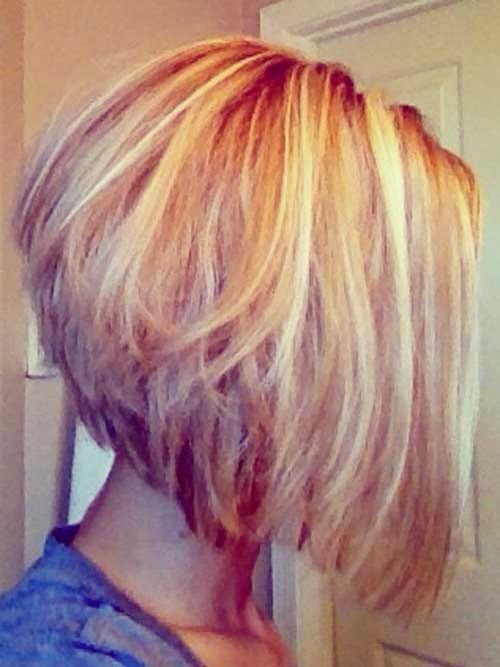 Layered Messy A-line Bob Haircut
