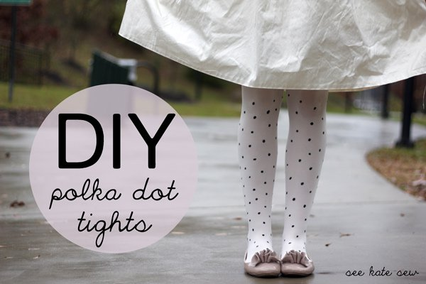 Lovely DIY Polka Dotted Tights