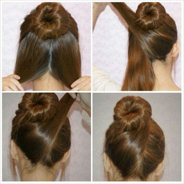 Lovely Top Knot Hairstyle Tutorial