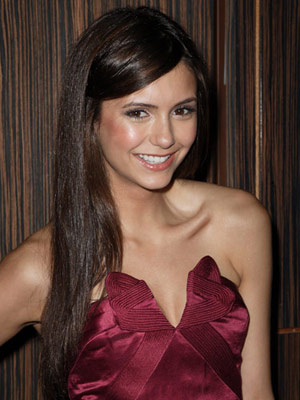 Nina Dobrev Bronze Cheeks Makeup