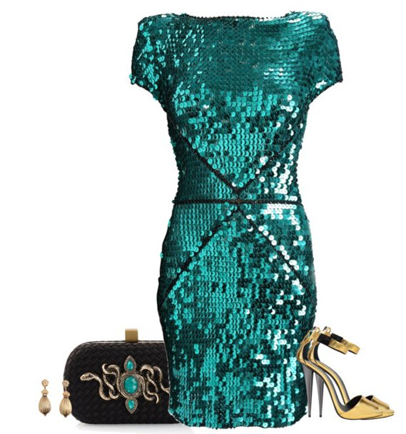 Peal Sequined Dress Outfit for 2015