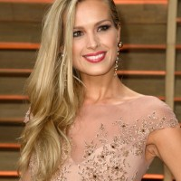 Petra Nemcova Elegant Side Sweep Hairstyle