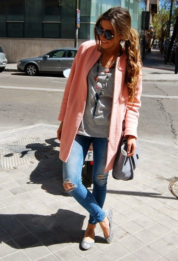 Pink Winter Coat Outfit Idea for 2015
