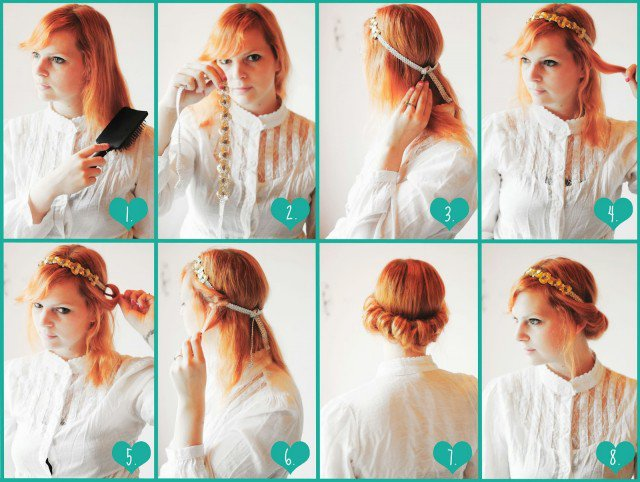 Pretty Headband Hairstyle Tutorial