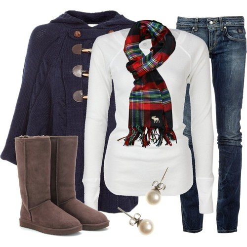 Pretty Outfit Idea for Winter Idea
