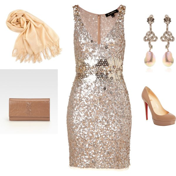 Pretty Sequined Dress Outfit for Festival
