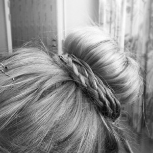 Pretty Top Bun with Braids for 2015
