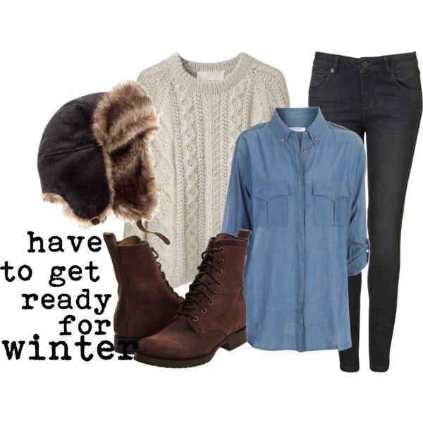 Pretty Winter Outfit Idea