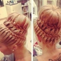 2015 Princess Braided Updo Hairstyle