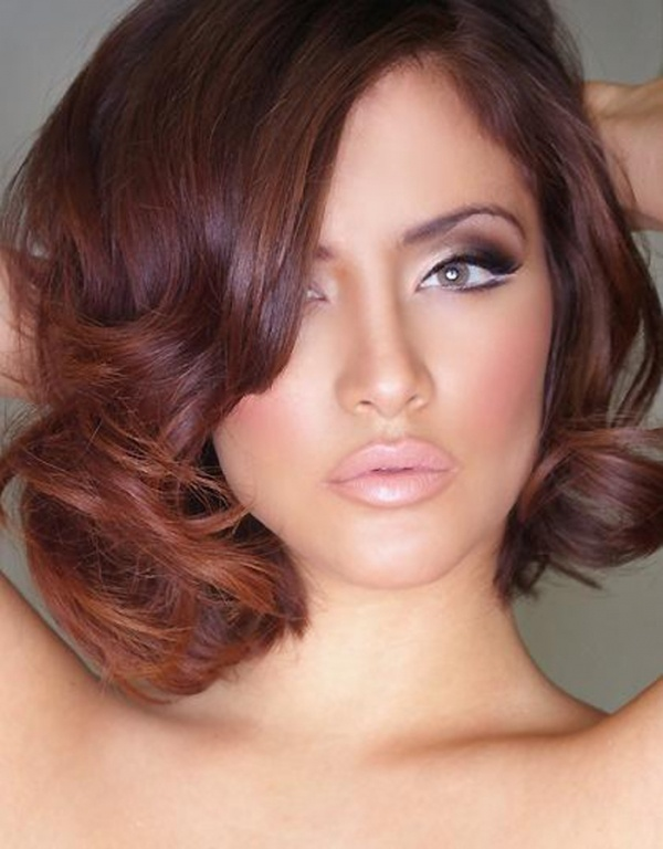 Red Brown Hairstyle