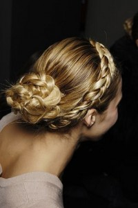 Stunning Braided Crown for Braided Low Bun