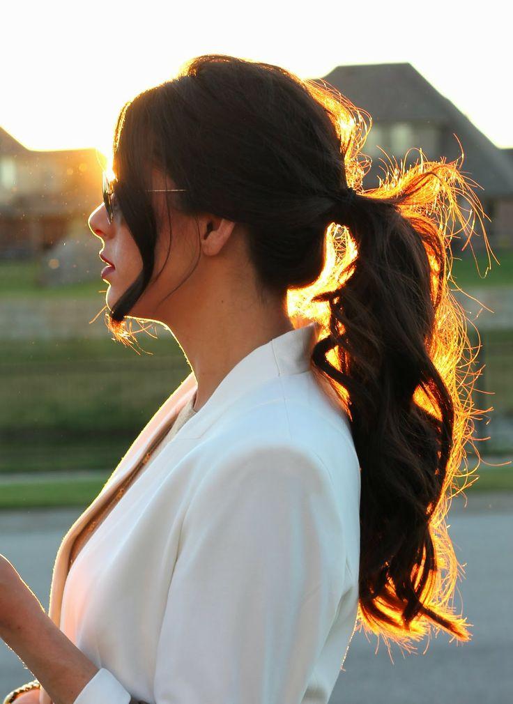 Stylish Curly Ponytail Hairstyle