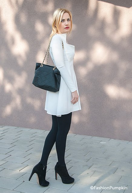 Stylish Office Attire with Black and White Outfit