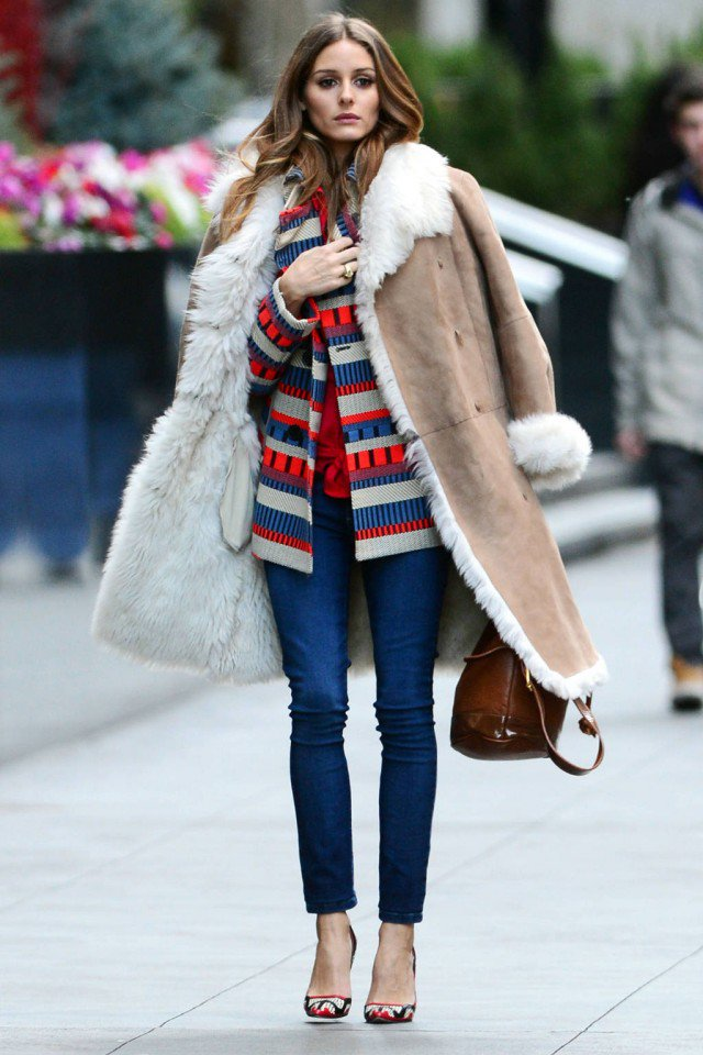 Stylish Shearling Jacket Outfit