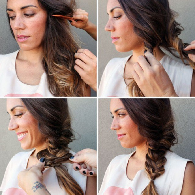 Stylish Side Fishtail Hairstyle Tutorial