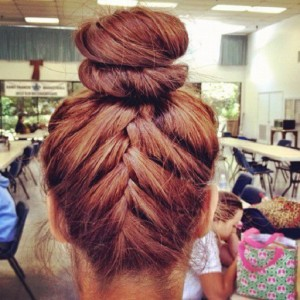 Top Knot with Braided Ends