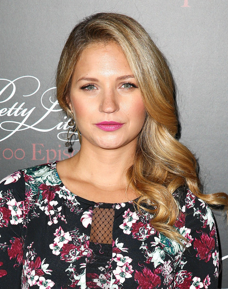 Vanessa Ray Side Sweep Hair and Rosy Lips