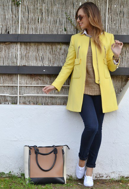 Yellow Winter Coat Outfit Idea for 2015