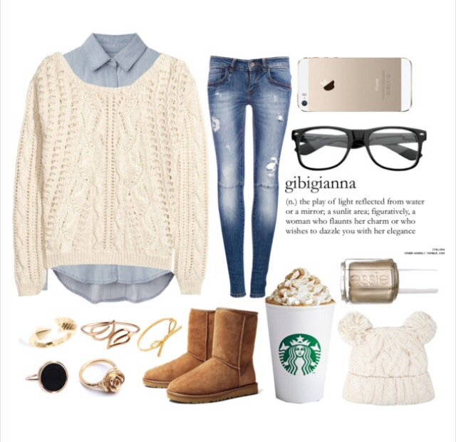 Youthful Outfit Idea for Winter