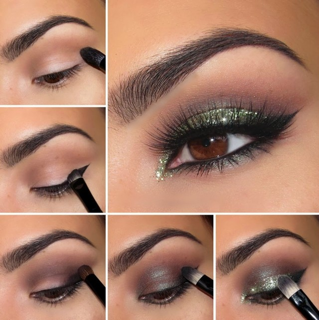 Perfect Shimmer Green Eye Shadow Tutorial
