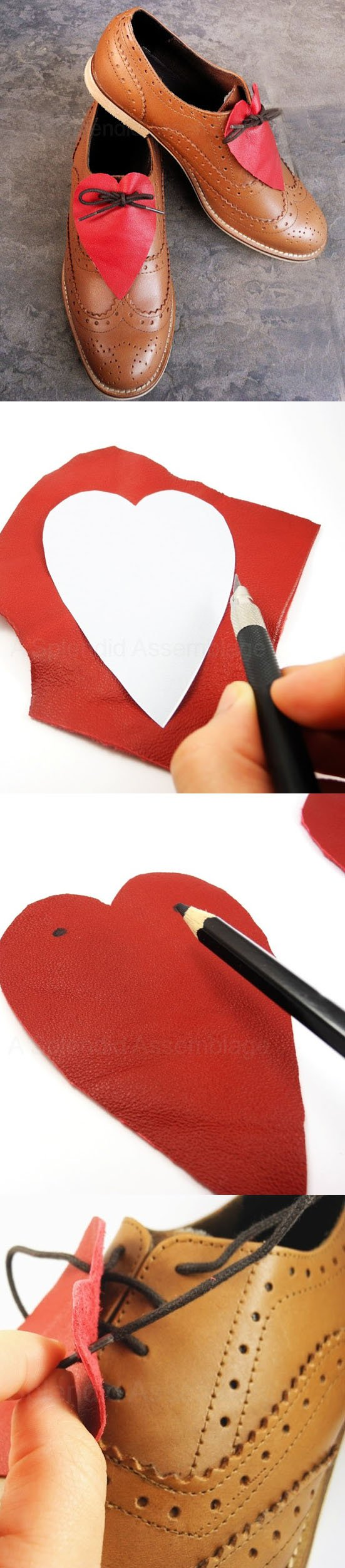 diy heart shoes