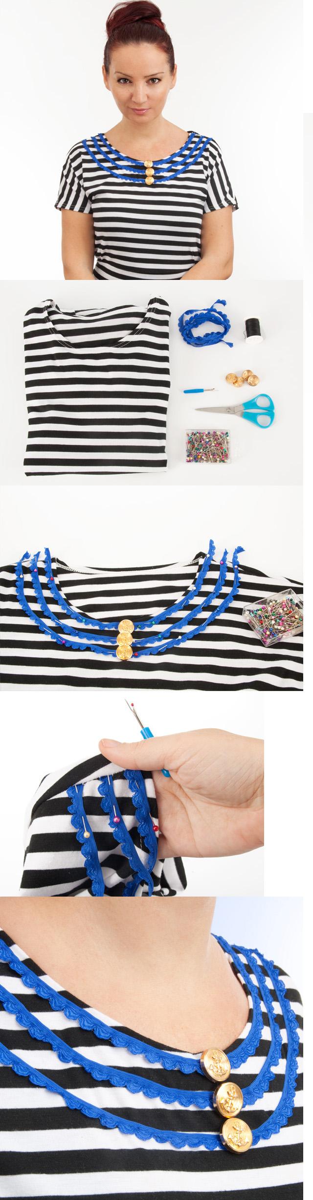 Clothing Tutorials DIY navy shirt