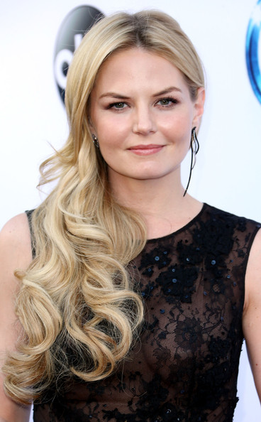 Jennifer Morrison Side Sweep with A Center Part