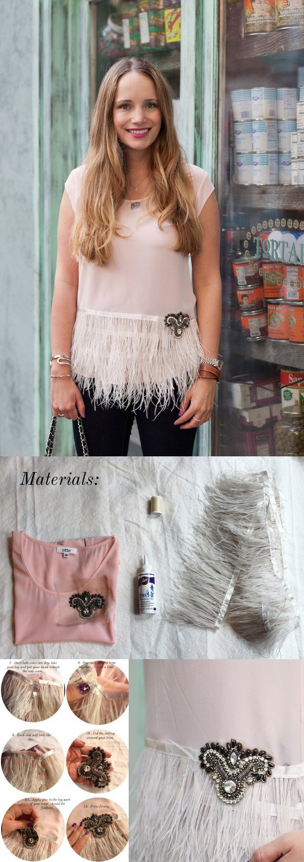 feather peplum
