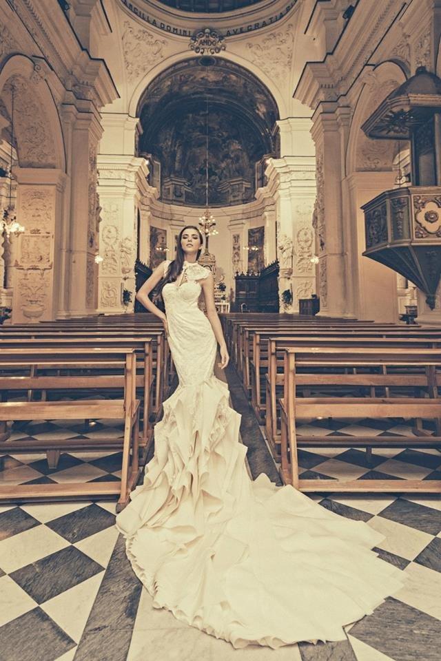 2015 Bridal Gown by Julia Kontogruni