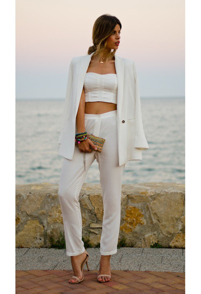 2015 Stunning White Outfit Idea